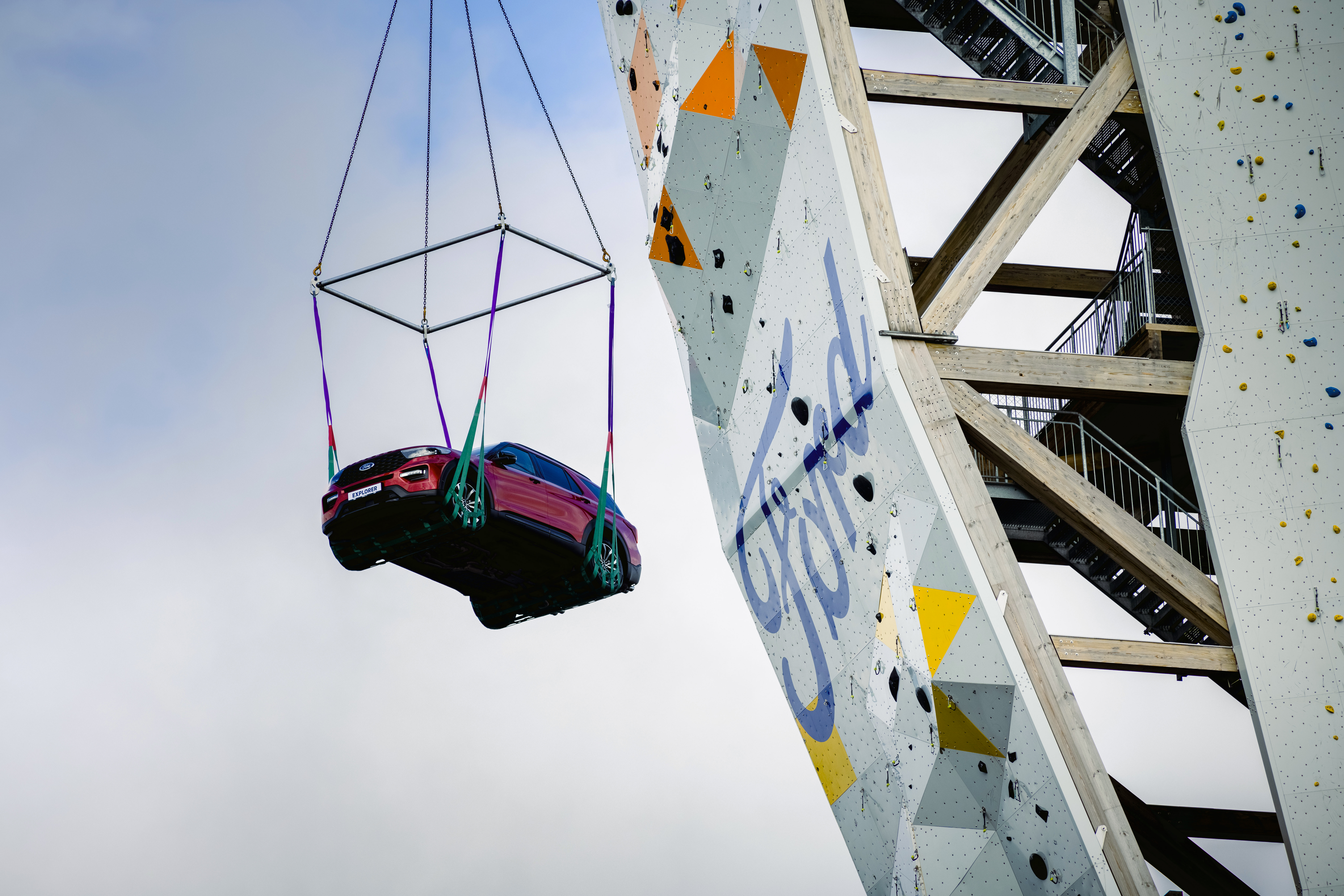 Vertigo sufferers should look away now, because Ford has scaled new heights with an ambitious sport climbing challenge that involved a Ford Explorer Plug-In Hybrid atop the tallest free-standing climbing tower in the world.