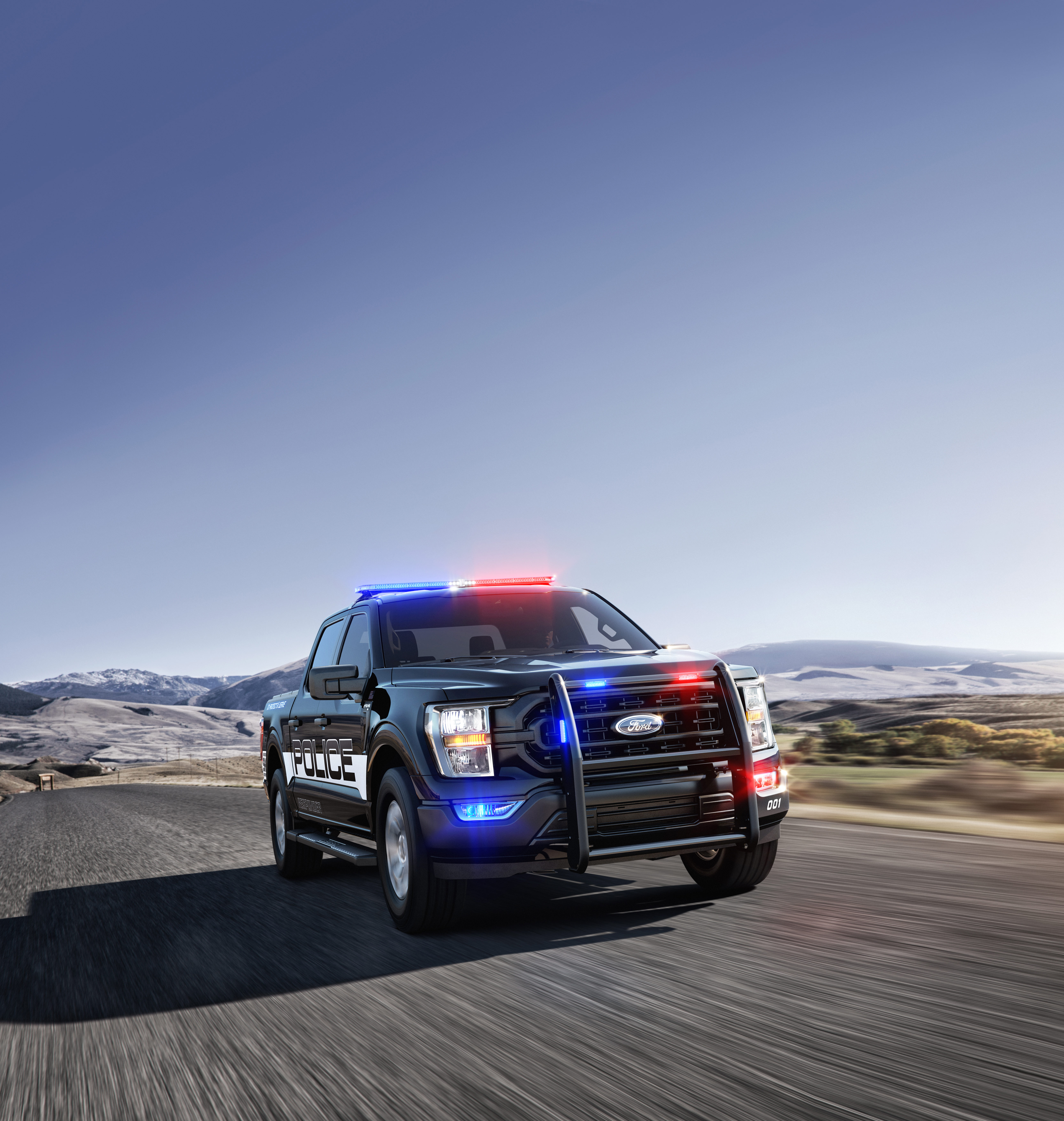 All-new 2021 F-150 Police Responder ®, America's only pursuit-rated pickup purpose-built for law enforcement, recorded faster 0-60 mph, 0-100 mph and quarter-mile times than any other police vehicle in recent Michigan State Police and Los Angeles County Sheriff's Department tests